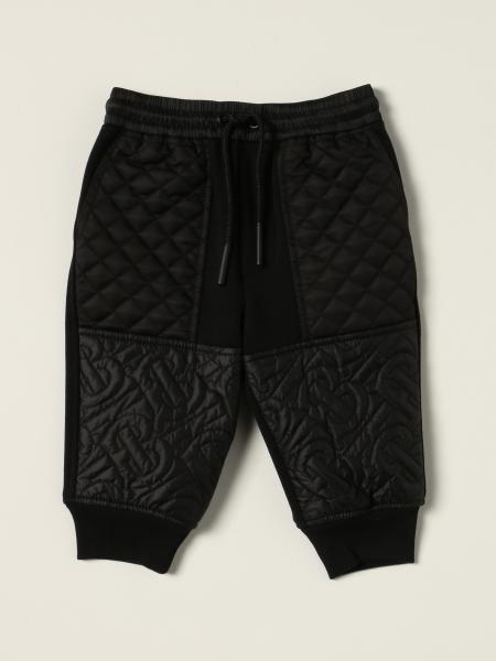 Burberry jogging trousers in cotton with quilted monogram panels