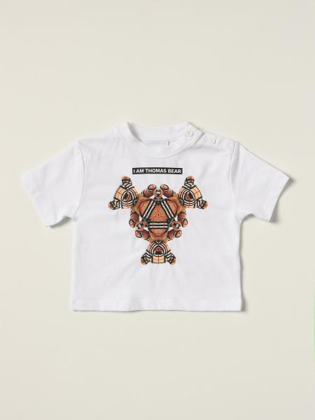 T-shirt Burberry in cotone con orsetto Thomas