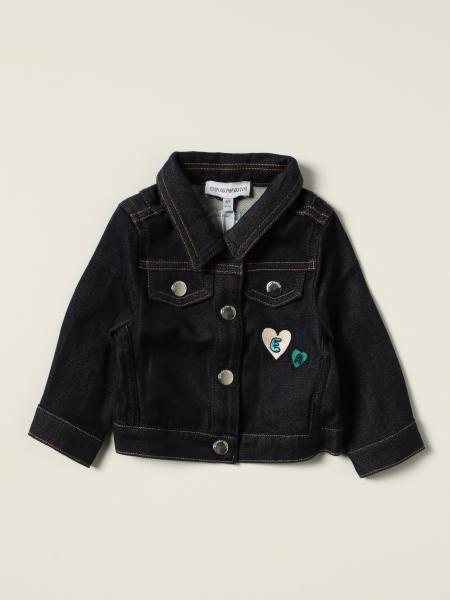 Giacca di jeans Emporio Armani con logo posteriore