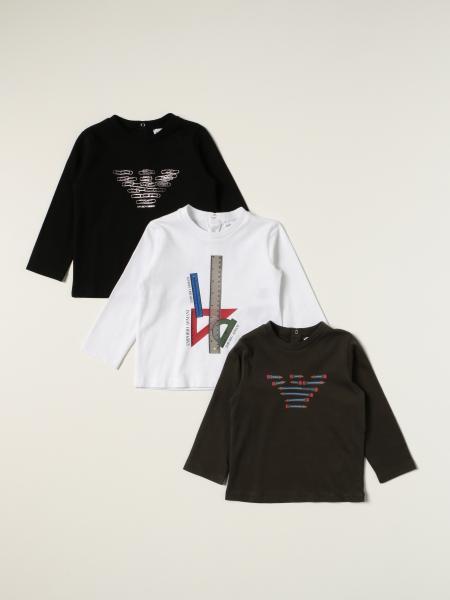 Set 3 t-shirt Emporio Armani con logo