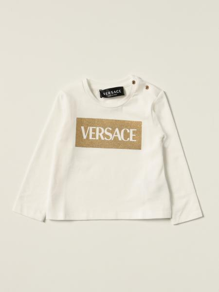 Versace Young t-shirt with lurex logo