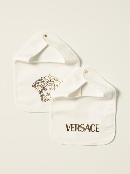 Set of 2 Versace Young bibs with medusa head and logo