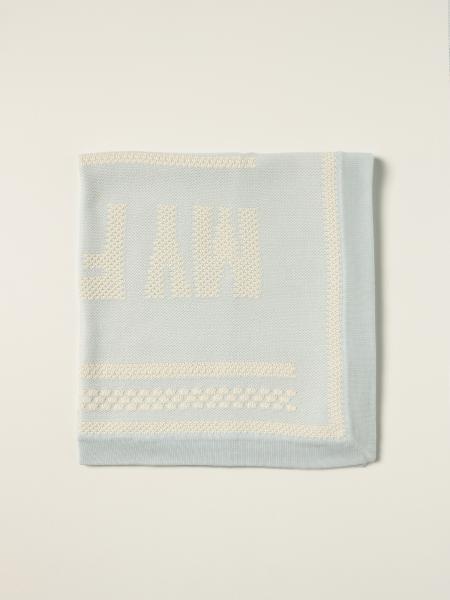 Coperta My First Fendi in cotone e cashmere