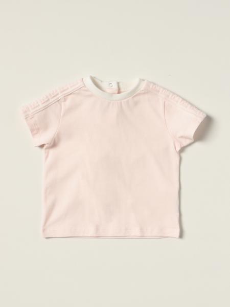 T-shirt Fendi in cotone con bande FF all over