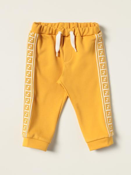 Pantalone jogging Fendi in misto cotone con bande FF