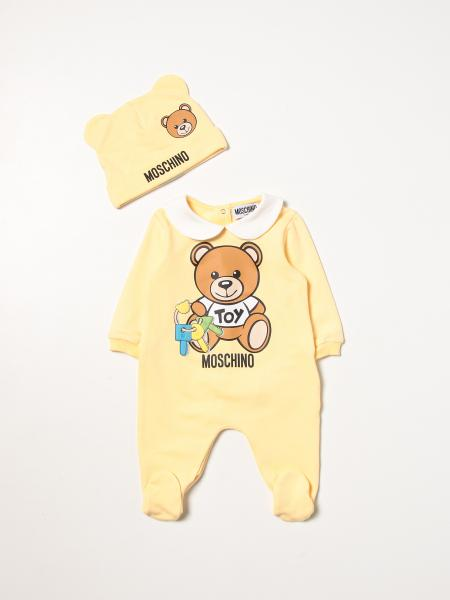Romper set with foot + Moschino Baby hat