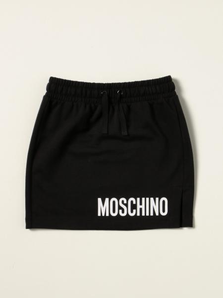 Moschino: Moschino Kid Logo 慢跑半身裙