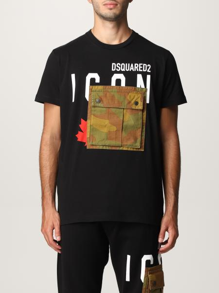 T-shirt Dsquared2 con tasca camouflage