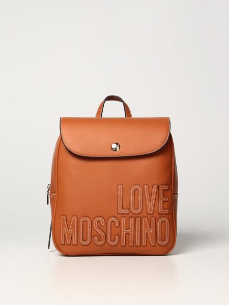 Zaino Love Moschino in pelle sintetica bicolor con logo