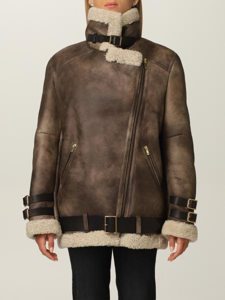 Chelsey Golden Goose leather jacket with adjustable straps