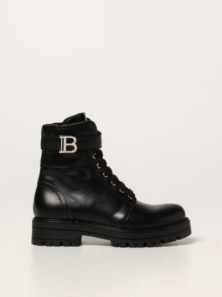 Balmain 皮革军靴