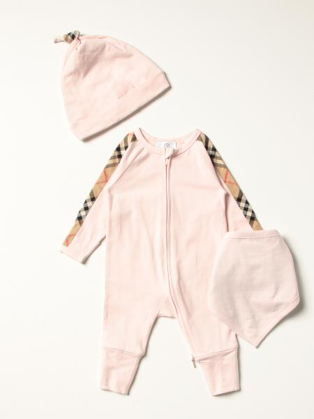 Burberry 3-piece set in cotton with vintage check pattern