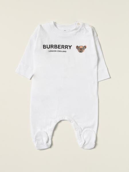 Burberry footed jumpsuit with Thomas bear