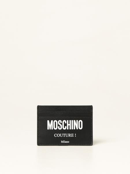 Porta carte di credito Moschino Couture in pelle