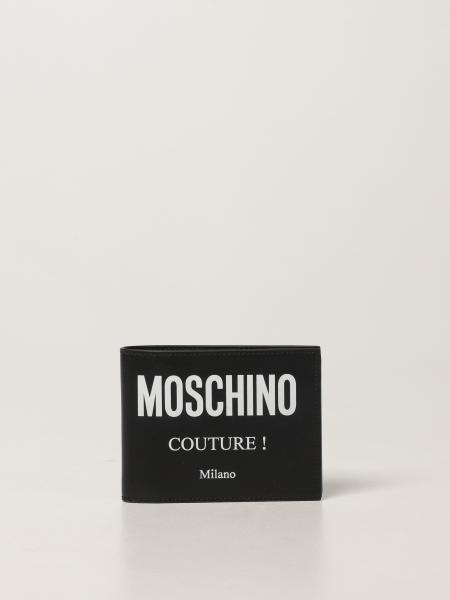 Portefeuille en cuir Moschino Couture