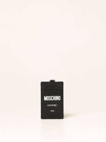 Porta carte di credito Moschino Couture in pelle sintetica