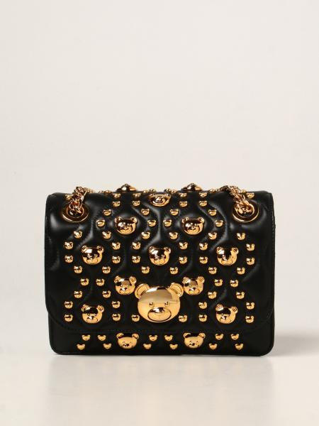 Moschino Couture bag in matelassé leather with Teddy