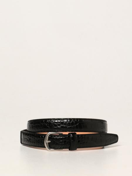 Dsquared2 men: Dsquared2 leather belt with crocodile print