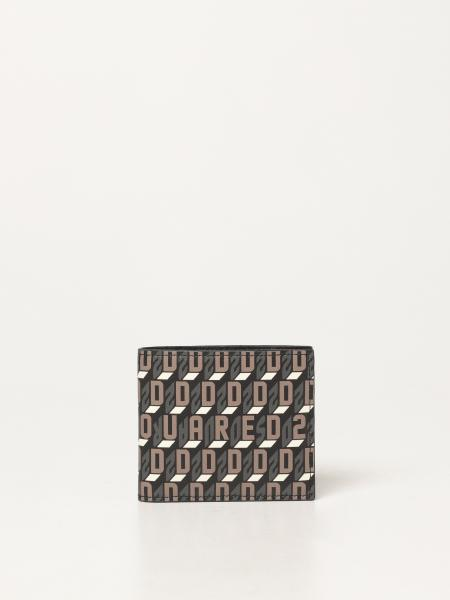 Dsquared2 men: Dsquared2 wallet in logoed canvas