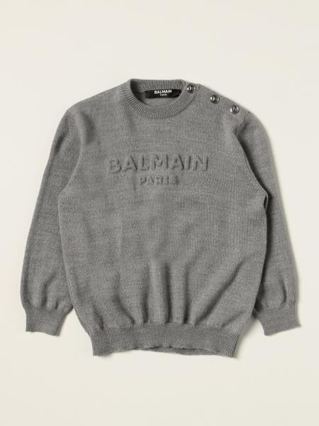 Balmain wool jumper with embossed logo