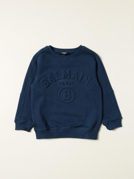 Balmain cotton jumper with embossed logo