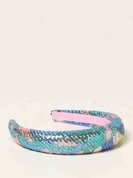 Emilio Pucci patterned headband with sequins