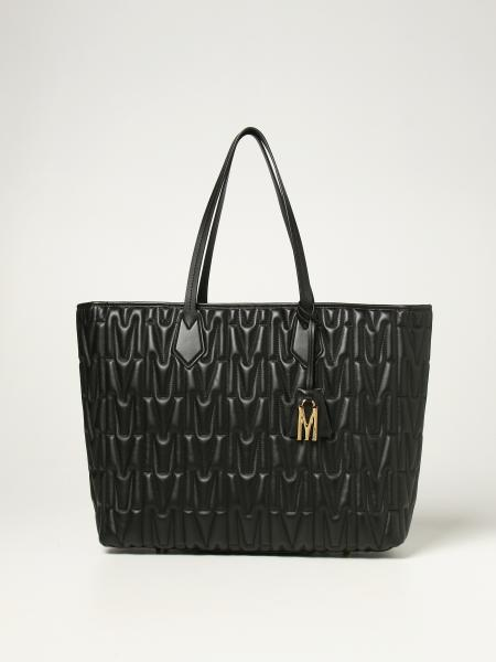 Moschino Couture shoulder bag in quilted leather with logo
