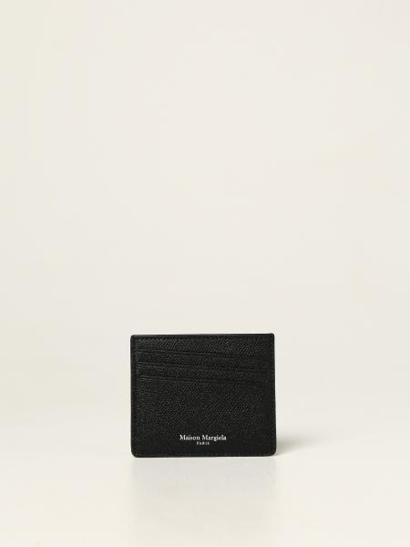 Maison Margiela uomo: Porta carte di credito Maison Margiela in pelle a grana
