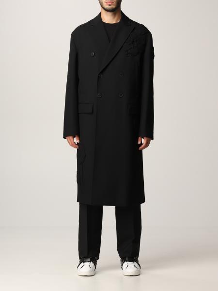Valentino: Cappotto Men's Garden Valentino in lana vergine con fiori