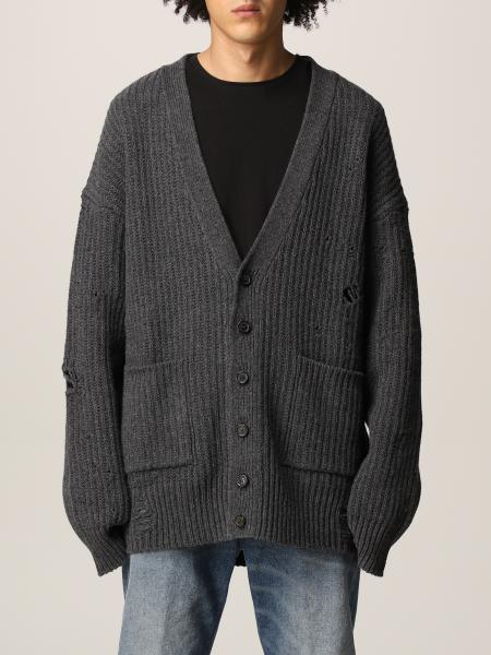 Cardigan Dsquared2 in lana destroyed