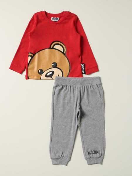 Moschino Baby sweatshirt + trousers set with big teddy