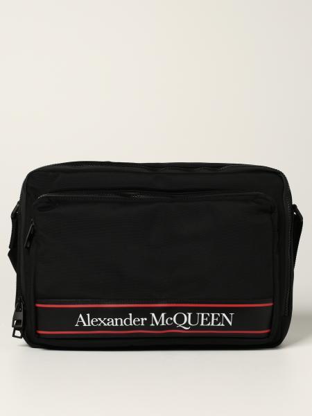 Borsa Alexander McQueen in tela con logo