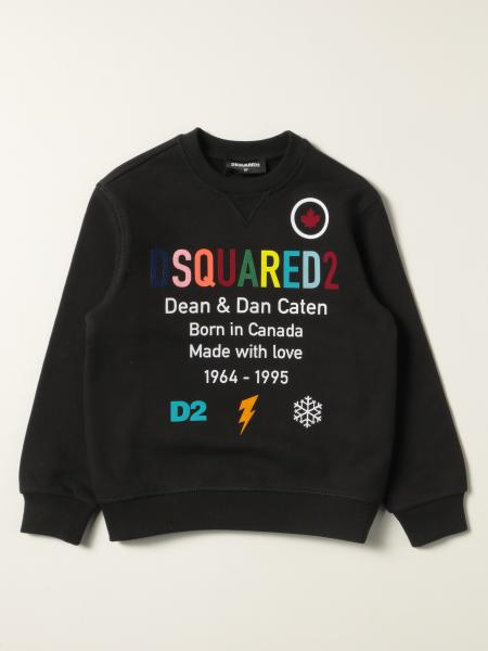 Felpa Dsquared2 Junior in cotone con logo multicolor