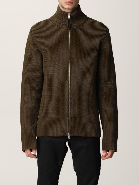 Maison Margiela uomo: Cardigan Maison Margiela in lana a coste