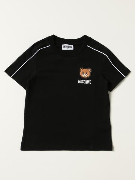 T-shirt Moschino Kid con logo teddy