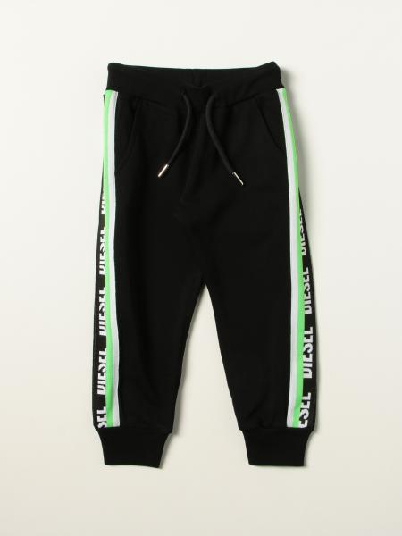 Diesel jogging pants with logoed bands