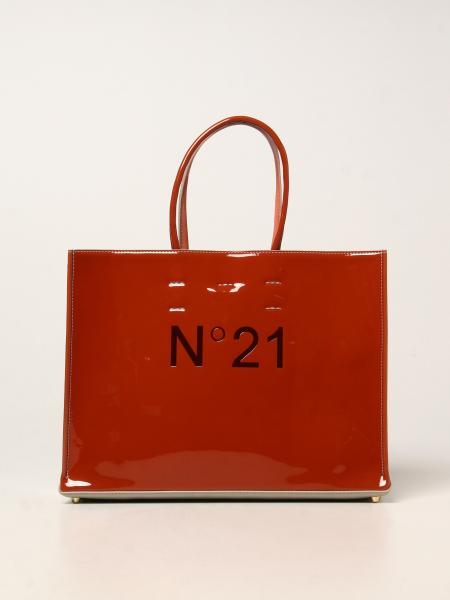 N ° 21 bag in synthetic patent leather