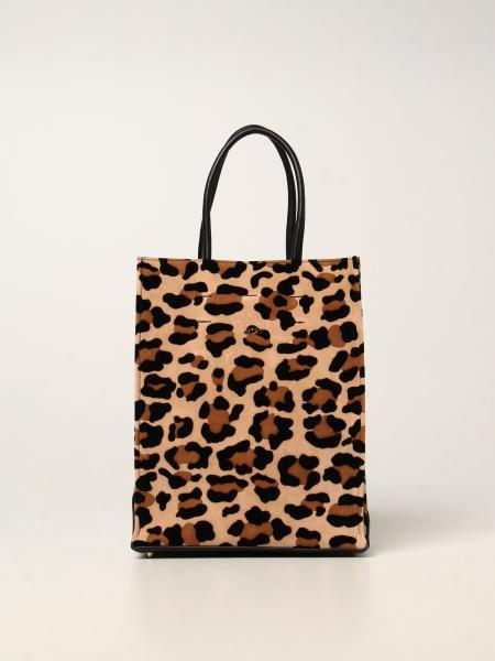 Suede bag N ° 21 with animal print