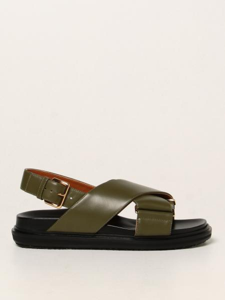 Marni: Sandales plates femme Marni
