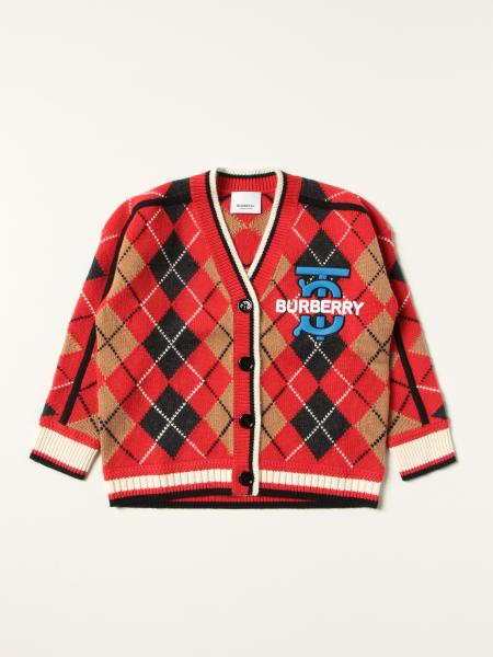 Burberry cardigan in wool and cashmere with Argyle motif