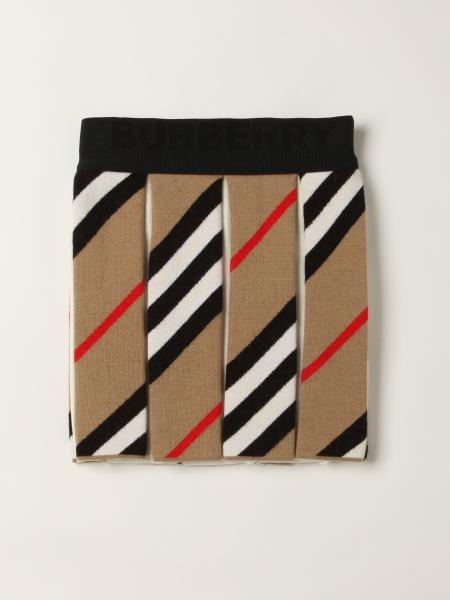 Burberry pleated skirt in wool blend with striped pattern