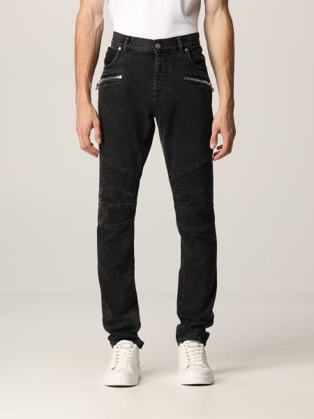 Balmain: Balmain jeans in washed denim