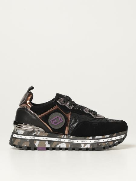 Liu Jo: Sneakers maxi Liu Jo in camoscio e nylon