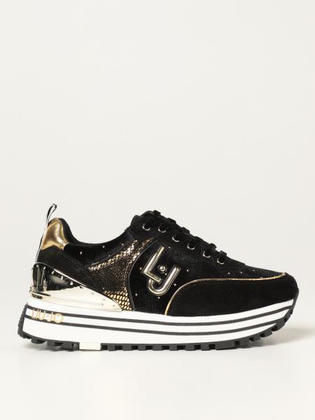 Liu Jo: Sneakers maxi Liu Jo in camoscio e glitter
