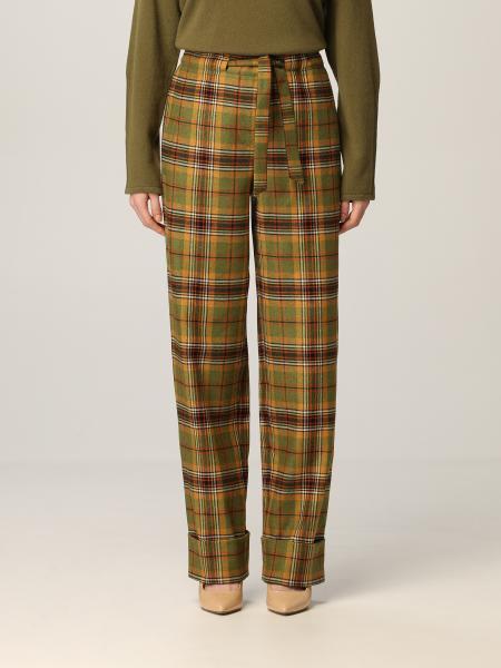 Alberta Ferretti trousers in check wool blend