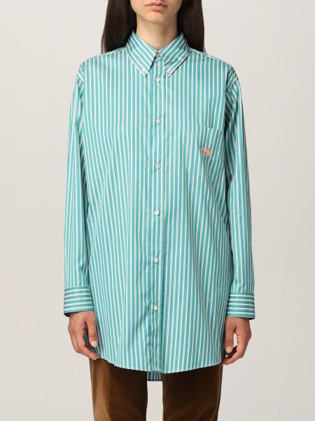 Etro: GE01 Etro striped shirt with embroidered Pegasus logoEtro