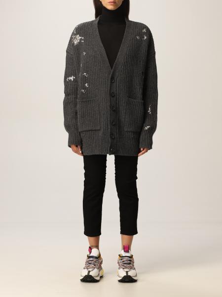 Dsquared2 女士: Dsquared2 破旧设计羊毛开衫