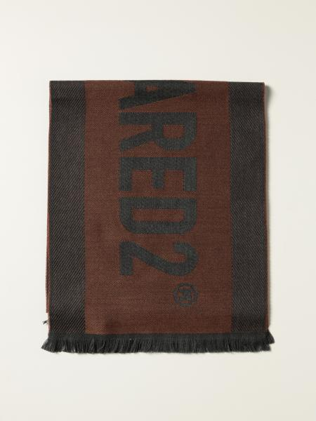 Dsquared2 men: Dsquared2 wool scarf with logo