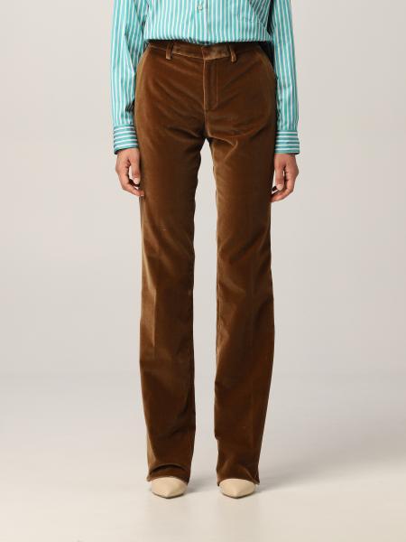 Etro: Etro classic trousers in velvet