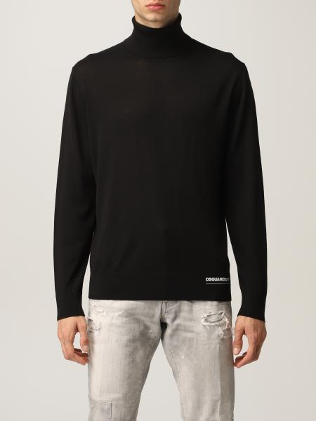 Dsquared2 men: Dsquared2 turtleneck in wool with logo